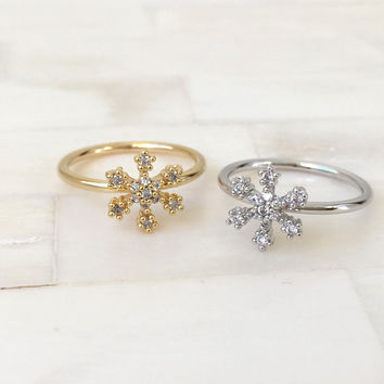 Snowflake Knuckle Ring