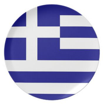 Greek Flag Plate