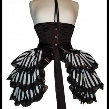 pirate steampunk bustle skirt burlesque Halloween costume fancy dress