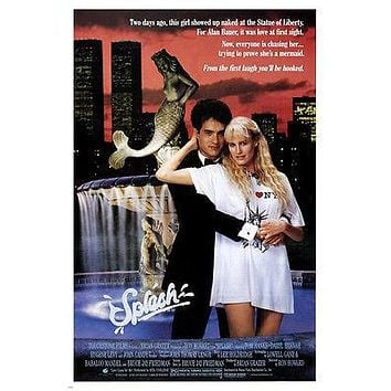 SPLASH movie poster TOM HANKS DARRYL HANNA mermaid COMEDY romance 24X36