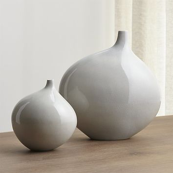 Dove Grey Small Vase