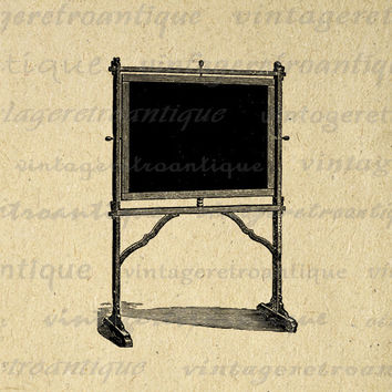 Antique Desk and Chair Digital Image Download Printable Graphic Vintage Clip Art for Transfers Printing etc No.2953