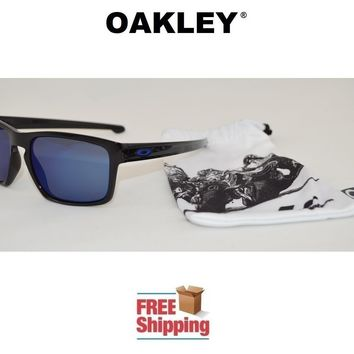 OAKLEY® SUNGLASSES SLIVER™ MOTO GP EDITION BLACK W/ ICE IRIDIUM MIRROR LENS NEW