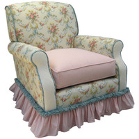 Angel Song 201021101Down Blossoms and Bows Adult Club Glider Rocker w/ Plush Down Cushion