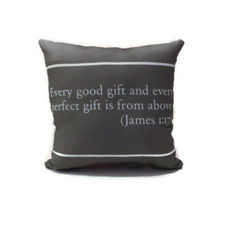 Bible Verse Mini Pillows Gift for New Home, Baby Shower, Wedding, Engagement, Anniversary, Everyday Motivational