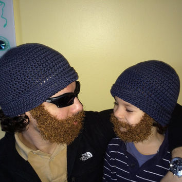 Fathers Day Gift, Matching Father Son Hat, beard hat, new dad hat, father daughter, boys hat, gift for dad, gift for dad and son