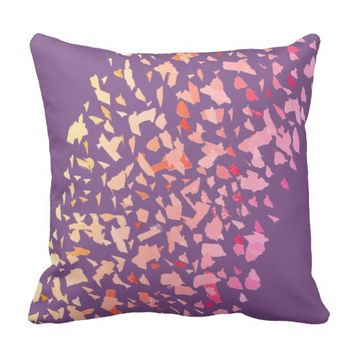 Abstract Art Pink Coral Throw Pillow Cushion