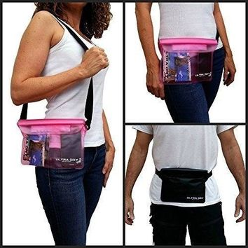 Waterproof Pouches Bags Adjustable Waist Strap Identity Theft Protection Sleeves