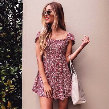 Floral Slim Sexy Dress