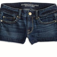 AEO Women's Denim Shortie (Dark Clean Indigo)