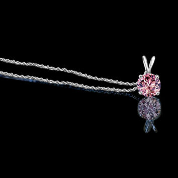 1.5ct Round Simulated Diamond Pendant.  635p150apk
