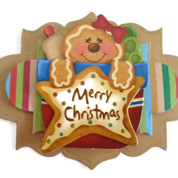 Gingerbread, 3D Scrapbook Embellishment, Paper piecing, gift tags, Scrapbooking Layouts, Cards, Mini Albums, brag book, Paper Crafts