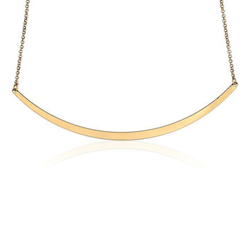 Gold Plated Chain Simple Pendant Necklace