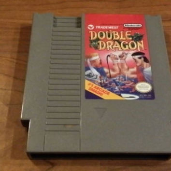 Free Shipping - Double Dragon Nintendo nes system game - Christmas holiday gift - retro nerd geekery