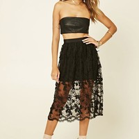 Embroidered Lace Skirt