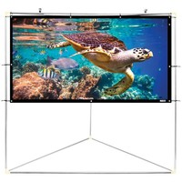 "Pyle Home(R) PRJTPOTS101 Portable Outdoor Projection Screen (100"")"