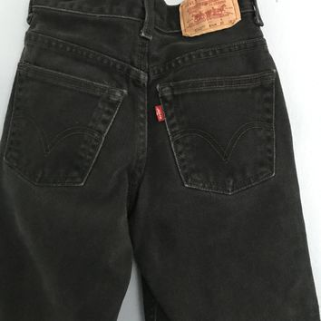 Vintage Black Denim Levi's - 8 Years