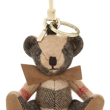 BURBERRY - Thomas Bear check cashmere keyring | Selfridges.com