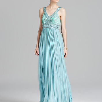 Sue Wong N3537 Accordion Pleated Evening Gown