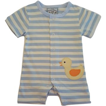 Baby Boys One-Piece Romper Playsuit - Duck Design - Choose Infant Sizes