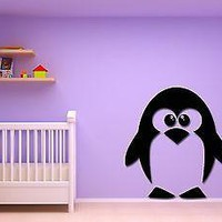 Wall Stickers Vinyl Decal Baby Penguin For Kids Nursery Room Unique Gift (z1766)
