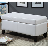 Modus Urban Seating Leatherette Storage Bench