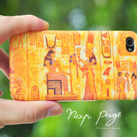Apple iphone case for iphone iphone 4 iphone 4s iphone 3Gs : Vintage Pharaoh of Egypt pattern