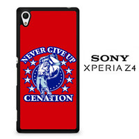 John Cena Never Give Up Cenation V0478 Sony Xperia Z4 Case