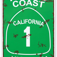 Pacific Coast Highway Tin Sign at AllPosters.com