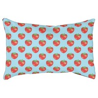 Strawberry Pattern On Blue Pet Bed