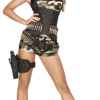Adult Army Booty Short Babe Halloween Costume