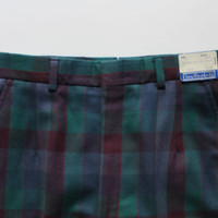 Vintage Deadstock David Brook LTD Worsted Wool Size 8 Plaid Pants 1970s