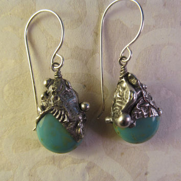 Timeless Relics Collection one-of-a-kind Earrings - Turquoise