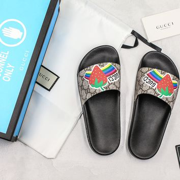 Gucci Slide Sandal With Blue Box Style #1 - Best Online Sale