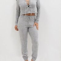 'Lisi' Grey Sweatpant set