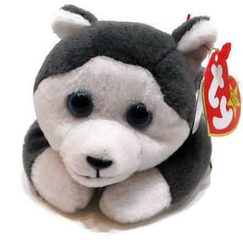 Free US Shipping, Ty Beanie Baby Nanook The Dog Plush Toy Stuffed Animal MWMT November 21 1996 Vintage Stuffed Toy Vintage Plush Collectible