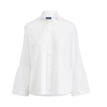 BROADCLOTH BELL-SLEEVE SHIRT