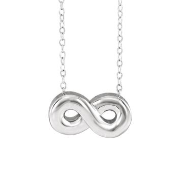 Horizontal Infinity Ash Holder Necklace in Sterling Silver, 18 Inch