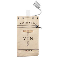 Vin Canvas Beverage Canteen Tote - Holds Full 750 ml Bottle of Wine