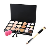 20 Color Cream Contour Highlighting Makeup Kit with Beauty Professional Cosmetic Blender & Brush Set
