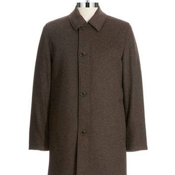 Black Brown 1826 Tweed Wool Coat
