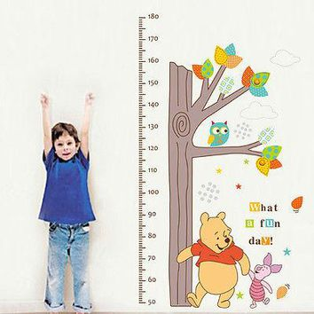 WINNIE THE POOH Height Chart Measure Wall Sticker baby Nursery Decor PVC Decals