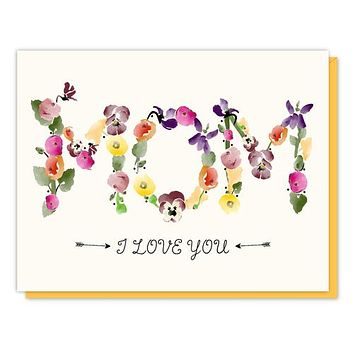 Mom Flowers Enclosure Card