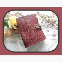 Hamsa Hand Latched Leather Journal