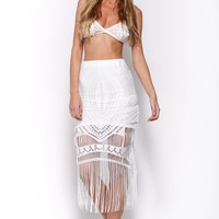 You're All I Need Skirt White