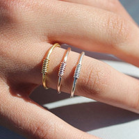 Best Friend Rings, Stacking Rings, Gold Ring, Silver Rings, RINGS, Stackable Rings, Gift for Best Friend, Gold , Rose Gold Ring