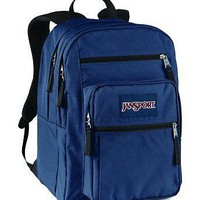 JanSport Classic BIG STUDENT School BACKPACK Navy JS00TDN7003
