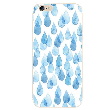 Rain iPhone 5S 6 6S Plus creative case + Gift Box-128