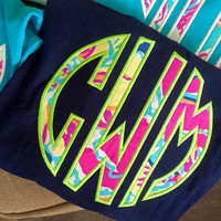 Lilly Pulitzer Large Monogram T Shirt