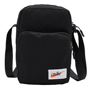 NIKE 2019 new men and women crossbody bag sports shoulder bag storage bag Black